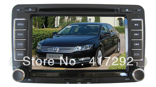7inch Volkswagen Magotan / Sagitar / Golf / New Polo / Touran Car DVD with built-in GPS / GPS IGO map , bluetooth IPOD free 4GB(China (Mainland))