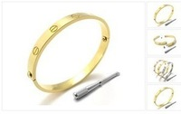 Love Screw stainless steel bangle -3 colors for choice