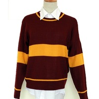 Christmas gift harry potter Quidditch jersey Gryffindor School uniform  sweater cosplay costumes