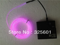 various led neon light el wire 5m 3.2mm  +9V inverter on/flash/adjustable brigtness (Battery not included)