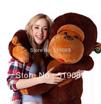 Free Shipping 90cm Stuffed Monkey Plush Toy 1pcs Stuffed animals Giant Monkey Valentine Gift For best gift