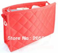 Free shipping Classic women's cosmetic bag wash bag women's handbag Small plaid storage travelling bag