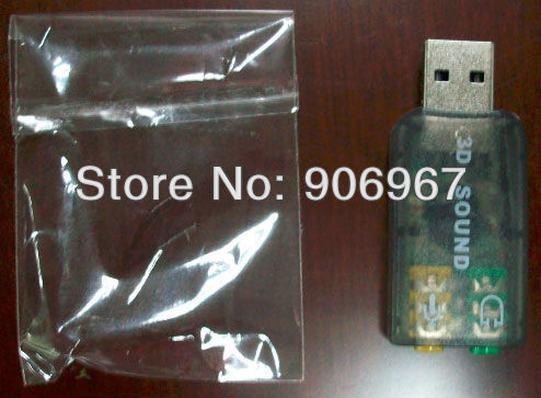DHL Free Shipping to UK Germany 1500pcs/lot Best Chipset C-Media CM108 USB Surround Sound Card Mic Speaker Adapter Virtual 5.1CH(China (Mainland))