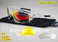 2013 new style JAWBONE Crystal frame white / Black ear socks Sports Men's Sunglasses Riding bike glasses