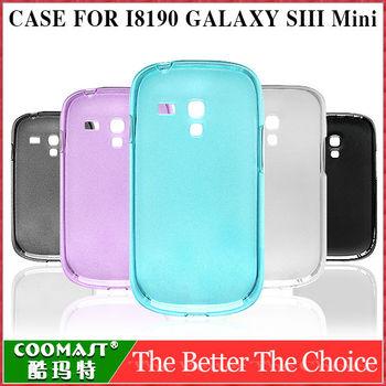 TPU Case Colorful Vivid transparent Cover For  Samsung Galaxy S3 Slll Mini I8190 1PCS Free Shipping