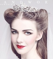 Free Shipping 2013 new items! Big Size rhinestone married crown tiaras for wedding hair accessories HG004