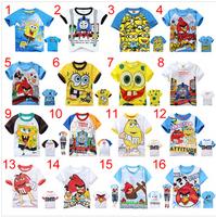 6pcs Boys Girls T Shirt Short-sleeve tees Cartoon Summer Baby T Shirt children's T-shirt kids summer clothing 95-140CM