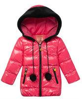 Wholesale 4 pcs winter red black pink orange Children child girls Kids baby hoody hooded down jacket feather jacket PEDS11P26