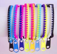 2013 New Hot Zipper Bracelet color bracelet wholesale Fashion Plastic bracelets Gift Free Shipping