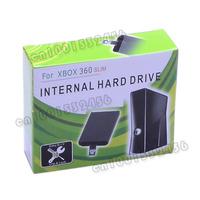 250GB Internal Hard Drive Disk Case for Xbox 360 Slim - Black
