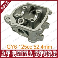GY6 125cc Chinese Scooter Engine 52.4mm EGR Cylinder Head Assy with Valves for 4T 152QMI ATV Go Kart Buggy Moped Quad