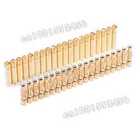 20 Sets 3.5mm Gold Bullet Banana Connector plug 10106