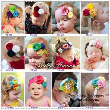 2013 New Fashion Baby Flower Headband,Girls Fabric Hairband,Boutique Hair Bow,FS056+Free Shipping