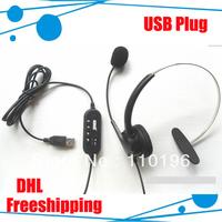 USB connector Telephone headset 10pcs/lot DHL freeshipping