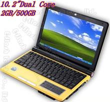 New ! E-flash 10.2inch computer window 7 laptop the intel atom laptop intel N2500 notebook 2GB/500GB(China (Mainland))