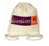 Canvas drawstring bag   cotton drawstring bag 6OZ canvas drawstring bag Low price escrow accept