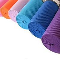 Yoga mat solid color yoga mat sports slip-resistant pad   wholesale also