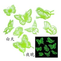 Free Shipping 8X Home Wall Glow In The Dark Butterfly Stickers Decal Baby Kids Gift Nursery Room Ceiling Stick