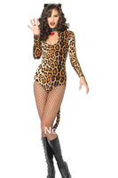 lingerie sexy fancy costume yellow leopard print small little demon cosplay Free shipping