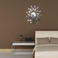 Min order 15 usd ( Mix items) SUN 50x50CM  MIRROR STICER  3D Fashion home decoration mirror wall stickers tv sofa P014