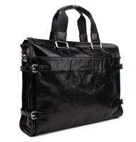 Free shipping New Fashion Men Genuine Leather Messenger Shoulder Laptop Tote Bag 3061