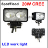 2pcs 12V 24V 1350 Lumen 20W LED Work Lamp Light Waterproof Boat Marine Deck Truck tractor offroad Fog light kit  super bright