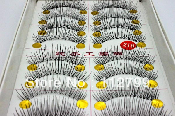Free shippment 0219 False Eyelashes handmade New 10Pairs/Lot Eyelash Eye Lashes Voluminous Makeup(China (Mainland))