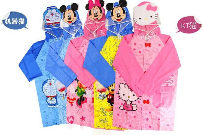Animal design waterproof children rainwear rainproof rain poncho jacket kid rainsuit rainwear,SLV 006(China (Mainland))