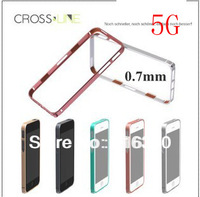 For iphone 5/5S case 0.7mm Ultra thin hight qualtily new porduct cross line case sp-5 metal bumper