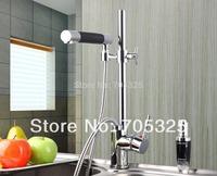 Beautiful New Pull Up Kitchen Stream Spray Basin Sink Chrome Brass Single Handle Mixer Tap Faucet JN-0153