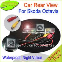 FREESHIPPING HD Car rear parking camera lens Special for skoda  Octavia ,fabia series. Waterproof,dust proof,night vision