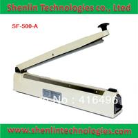 Handle impulse heat sealing tools machinery to plastic aluminum bags manual package close welding equipment film capping 500mm