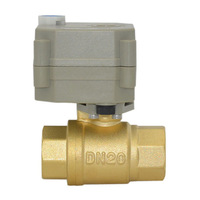BSP/NPT 3/4'' Motorised Valve Brass Full Port DC5V with Manual Override 2 Wires