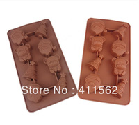 Diy Manual Chocolate Silicone Baking Cake Mold High Temperature Resistant Santa Claus/Bear/Tree ice case,Drop Shipping,WH38