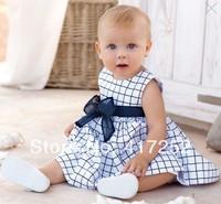 Hot sell,New baby girl's summer dress infant plaid dress kids dress ,4pcs/lot,