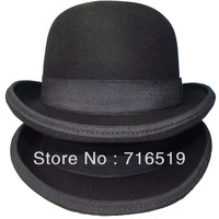 Black felt bowler hats for kids and mens and children 100% wool felt with high quality and best price and include shipping cost