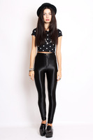 girls zipper fly sexy leggingns with novelty style