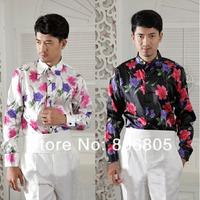 Free shipping new noble bow tie dress Fancy shirt  men`s long-sleeved dress Performance shirt