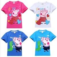 Girls Boys Children Tee Shirt Fit 3-7Yrs Baby Kids Cartoon Cotton Short Sleeve T Shirt Clothing 5Pcs/lot  5 Size Free Shipping