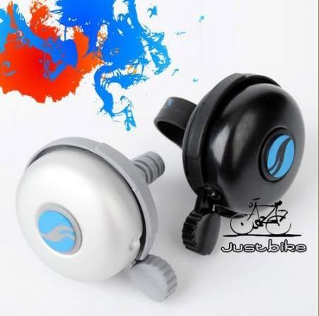 Black/silver New Cycling Bike Bicycle Handlebar Mechanical Aluminum Bell Ring Loud Horn(China (Mainland))