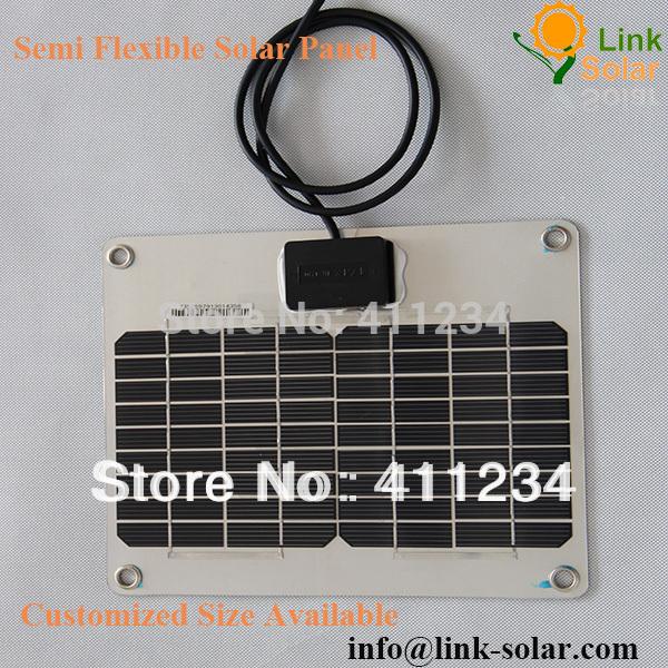 aluminum no frame Mini flexible small solar panel 5Watt 17.8V 272*232*2.5mm(China (Mainland))