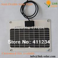 aluminum no frame Mini flexible small solar panel 5Watt 17.8V 272*232*2.5mm