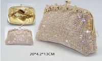 Free Shipping!Bling Bling Elegant Rhinestone Clutch Bag Swarovski bridal purse for fashion lady S0880