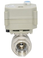 DC12V/24V water electric valve 2 wires SS304 BSP/NPT 1/2''  full port with manual override and indicator