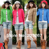 2013 single breasted thin short design down coat women outerwear thickening
