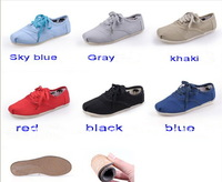 Wholesale Unisex Men Women Classic Canvas Shoes, Lace Up Casual Sneakers 6 colors with box  + Free Shipping