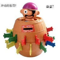 Crisis situation - Tricky pirate barrels / Tricky bucket classic toy, Japanese classical random game toy, Gathering toy, Largest