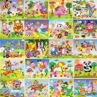 Cartoon 20pcs/lot 3D EVA handmade puzzles DIY children hand Stereo sticker,Children's Christmas Gift Educational Toys New 2013