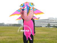 Goldfish kite ,child single kite ,beautiful kite +70m  line