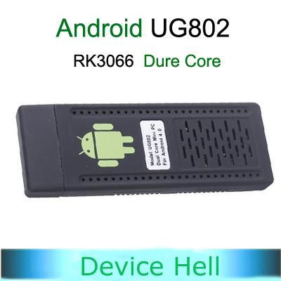 Latest Firmware WiFi Plus Version Android 4.1.1 Mini PC UG802 Dual Core RK3066 Cortex-A9 Stick MK802 III HDD Player TV Box(China (Mainland))
